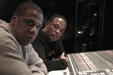 dr-dre-and-jay-z-in-the-studio-450x299