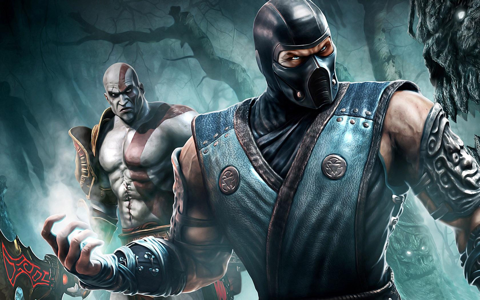 Sub-Ziro-and-Kratos-Mortal-Kombat-characters-hd-wallpapers