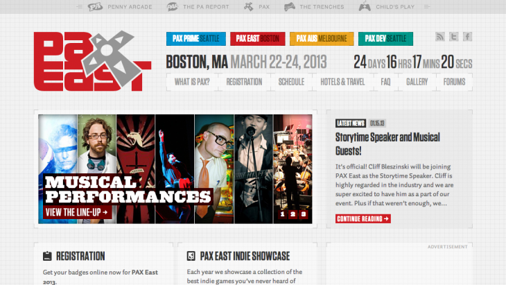 PAX East   Boston  MA March 22 24  2013