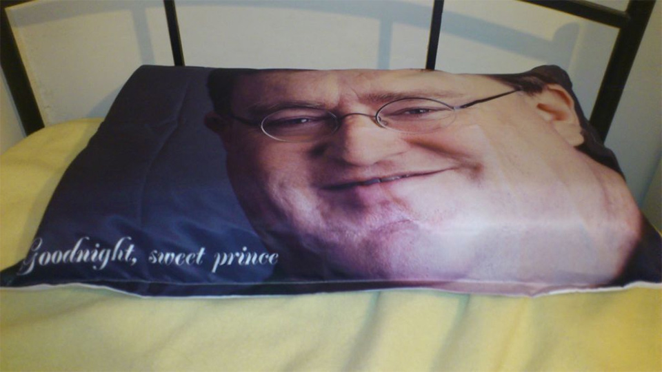 Yes, that is a Gabe pillow.