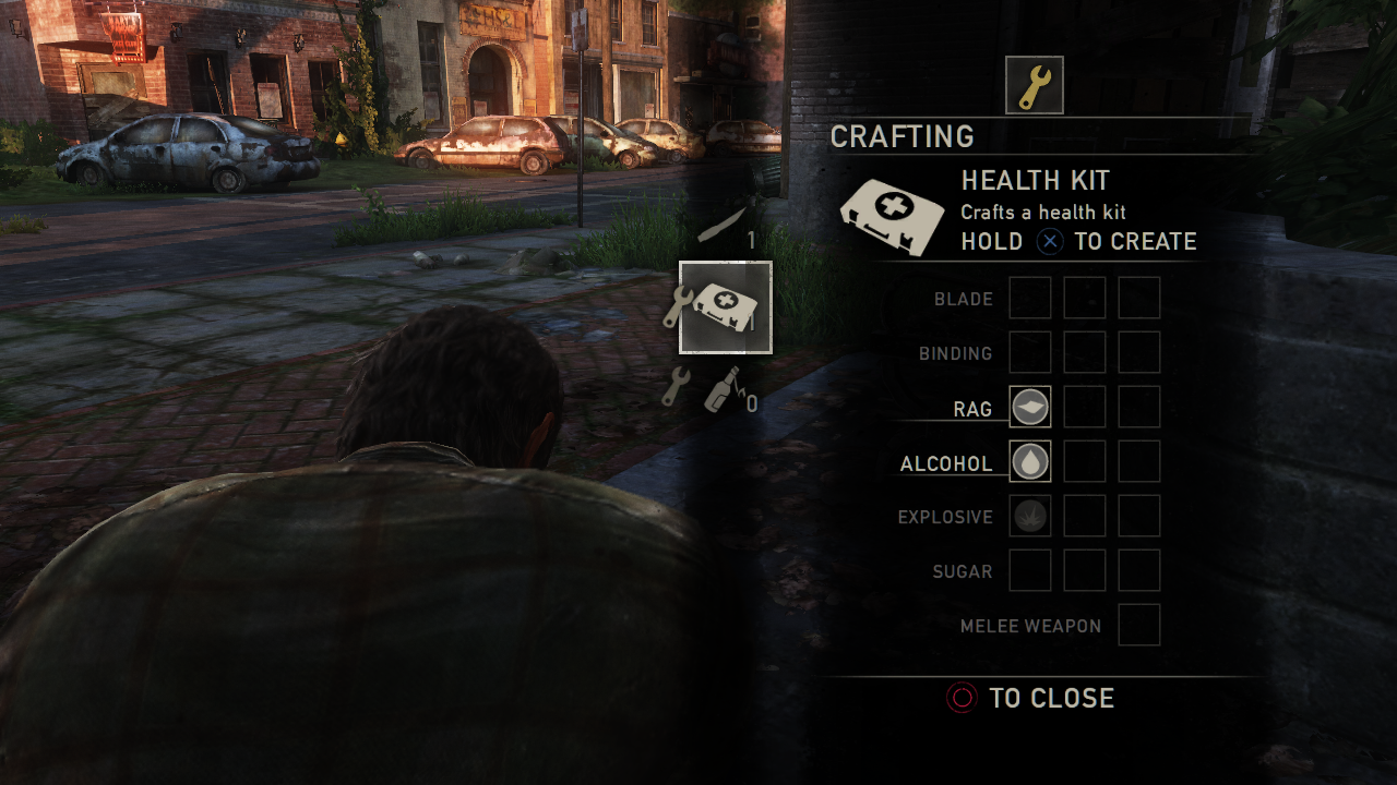 crafting health kit