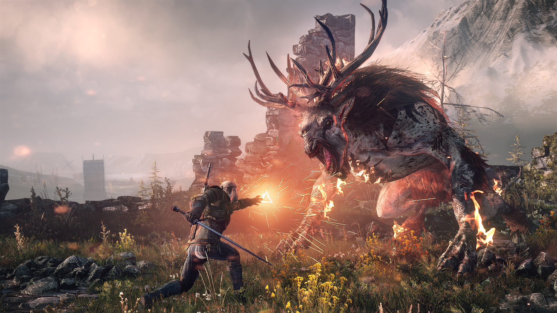 Thw Witcher 3 combat has been redesigned