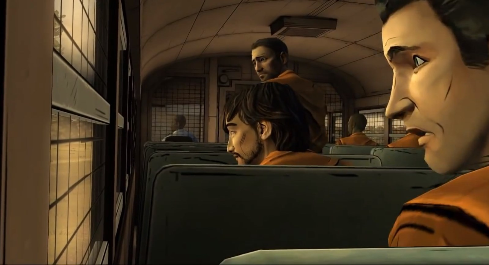 The Walking Dead 400 Days, Vince on the prison bus.