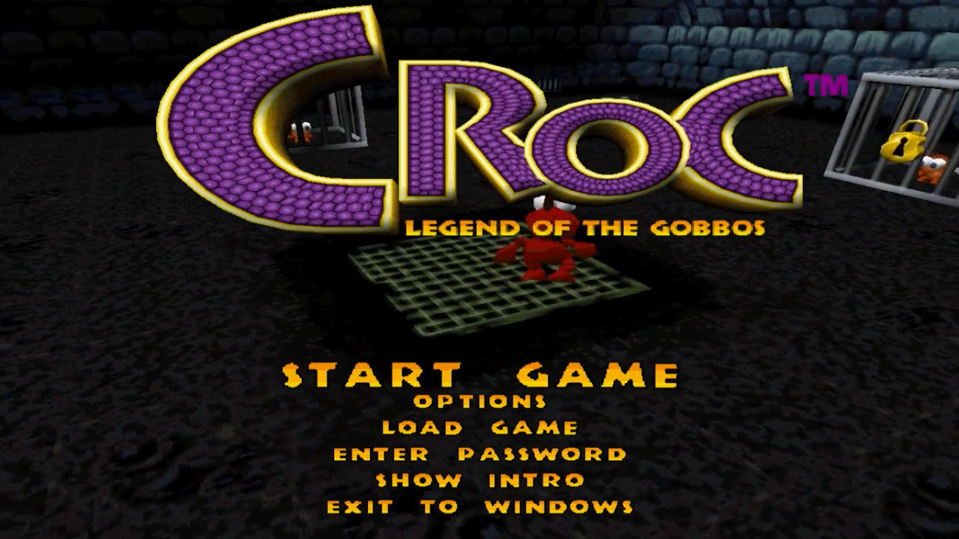 Croc Title Screen