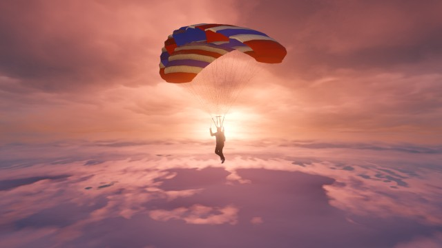 yannvlm captured another player descending from the sky.