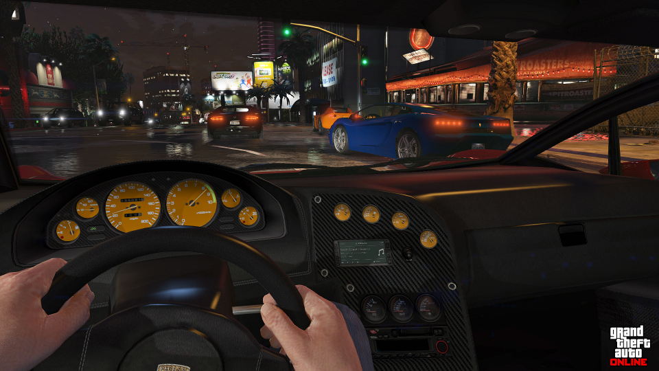 Grand Theft Auto V - FPS driving