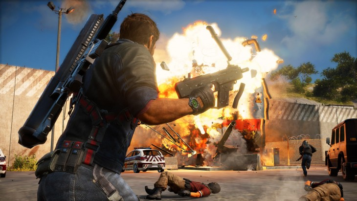 just cause 3 - blowing stuff up