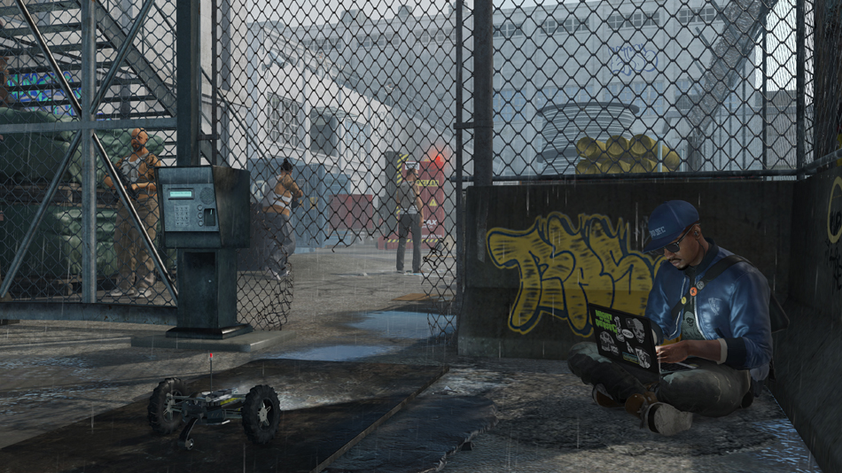 Marcus setting traps in Watch Dogs 2