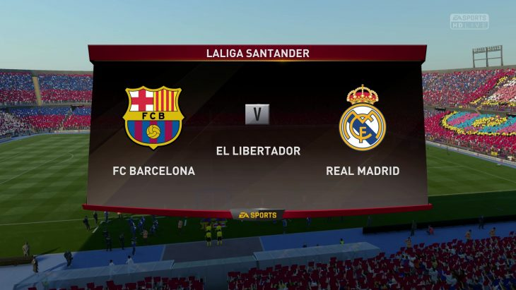 Barcelona vs. Real Madrid - La Liga 2016/17 - CPU Prediction