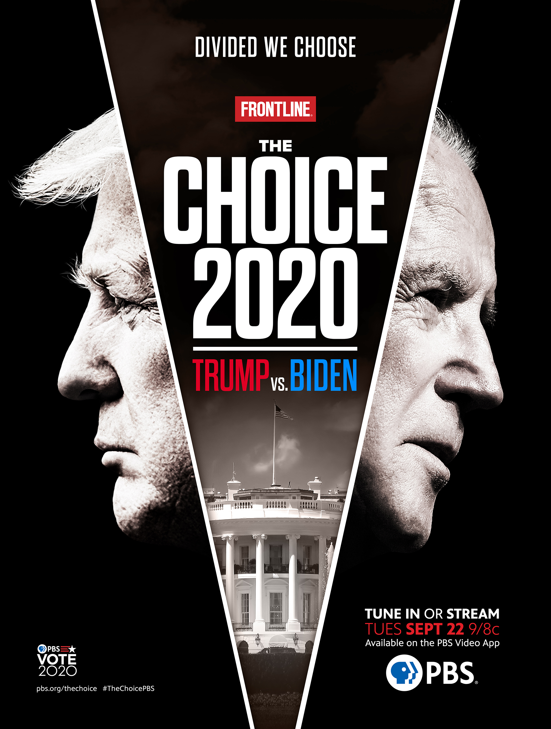 Promotional poster for THE CHOICE 2020: TRUMP VS BIDEN